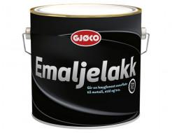 Краска алкидная по металлу Gjoco Emaljelakk глянцевая база А белая