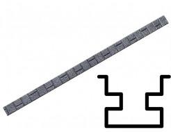 Форма столба распашная №22 с пазами (АБС) БудФорма