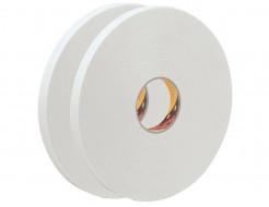 Лента двусторонняя вспененная 3М 9508W 0,8мм 12мм/5м белая