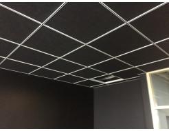 Акустическая влагостойкая гладкая плита Rockfon Industrial Black 600x600x30 - интернет-магазин tricolor.com.ua