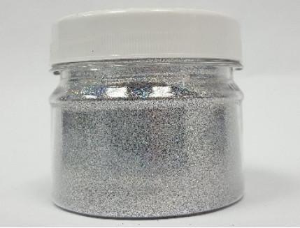 Купить Глиттер серебряный Tricolor GSI/0,2 мм (1/128) - 1