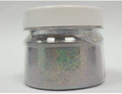 Глиттер голографический GGS/0,1 мм (1/256) серебряный Tricolor