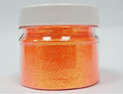 Купить Глиттер флуоресцентный GFO/0,2 мм (1/128) оранжевый Tricolor - 1
