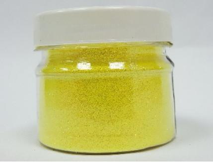 Купить Глиттер флуоресцентный лимонный Tricolor GFL/0,2 мм (1/128) - 1