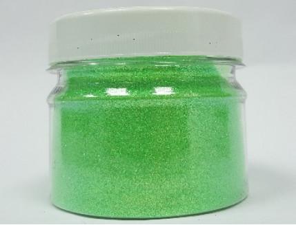 Купить Глиттер флуоресцентный зеленый Tricolor GFG/0,2 мм (1/128) - 1