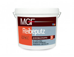 Штукатурка короед MGF Reibeputz 20 зерно 2,0 мм белая