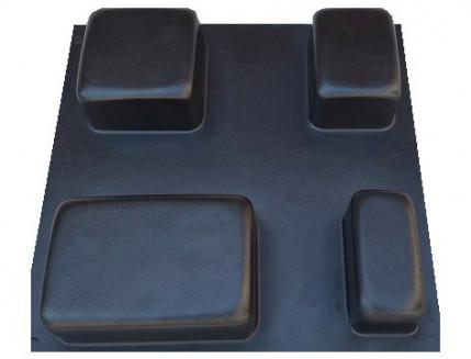Форма  для плитки Старый город 23x23х6 АБС MF