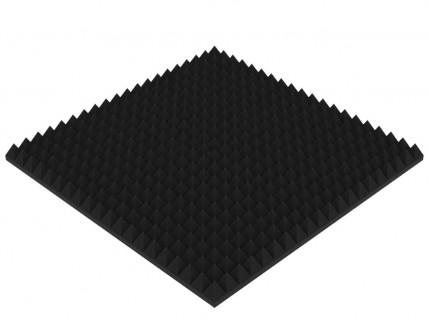 Акустическая панель Пирамида 70 мм 1х1 м средняя черный графит