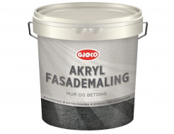 Краска фасадная латексная акриловая Gjoco Akryl Fasademaling полуматовая база С прозрачная