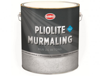 Краска фасадная плиолитовая Gjoco Pliolit Murmaling матовая база С прозрачная