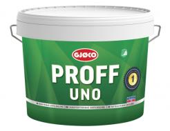 Краска латексная акриловая Gjoco Proff Uno 1 моющаяся глубокоматовая С прозрачная
