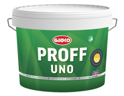 Краска латексная акриловая Gjoco Proff Uno 5 моющаяся матовая В полупрозрачная