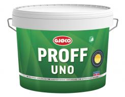 Краска латексная акриловая Gjoco Proff Uno 7 моющаяся шелковисто-матовая В полупрозрачная