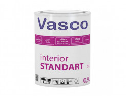 Водоразбавляемая акриловая матовая краска для интерьеров Vasco Interior STANDART База C - интернет-магазин tricolor.com.ua