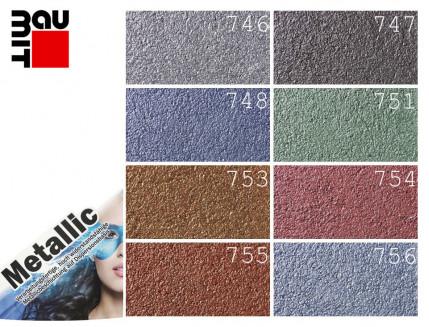 Краска акриловая Baumit Metallic 756М Azurit - изображение 2 - интернет-магазин tricolor.com.ua