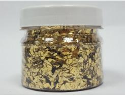 Купить Глиттер рваный GLRG/1-5 мм золотой Tricolor