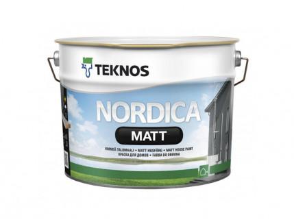 Водоразбавляемая акрилатная краска по дереву для наружных работ Teknos Nordica Matt матовая База3