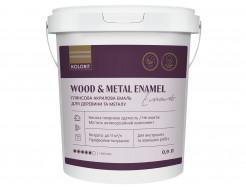 Акриловая эмаль Kolorit Wood and Metal Enamel для дерева и металла для наружных и внутренних работ полуматовая