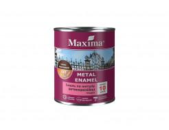 Эмаль антикоррозийная по металлу 3 в 1 Maxima гладкая вишневая