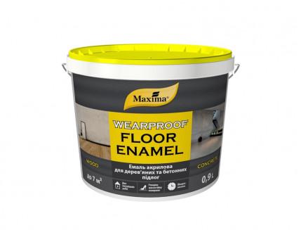 Эмаль акриловая для деревянных и бетонных полов Maxima полуматовая красно-коричневая - интернет-магазин tricolor.com.ua