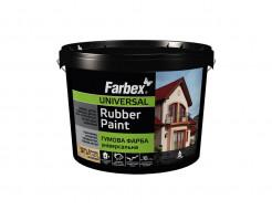 Краска резиновая универсальная Farbex матовая черная