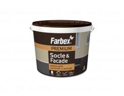 Краска для цоколей и фасадов Socle&Facade Farbex матовая коричневая - интернет-магазин tricolor.com.ua