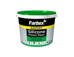 Краска-грунт силиконовая с кварцевым наполнителем Farbex матовая белая