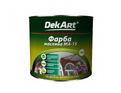 Краска масляная МА-15 DekArt желтая - интернет-магазин tricolor.com.ua