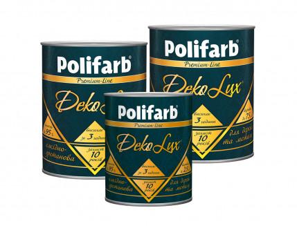 Алкидно-уретановая эмаль DekoLux для дерева и металла Polifarb глянцевая темно-коричневая - изображение 2 - интернет-магазин tricolor.com.ua