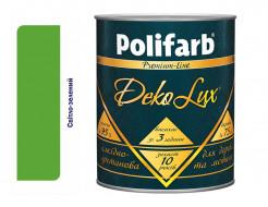 Алкидно-уретановая эмаль DekoLux для дерева и металла Polifarb глянцевая светло-зеленная