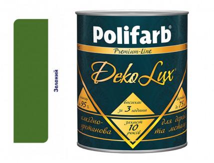 Алкидно-уретановая эмаль DekoLux для дерева и металла Polifarb глянцевая зеленая - интернет-магазин tricolor.com.ua