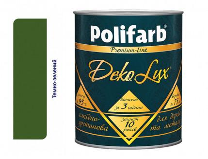 Алкидно-уретановая эмаль DekoLux для дерева и металла Polifarb глянцевая темно-зеленая - интернет-магазин tricolor.com.ua