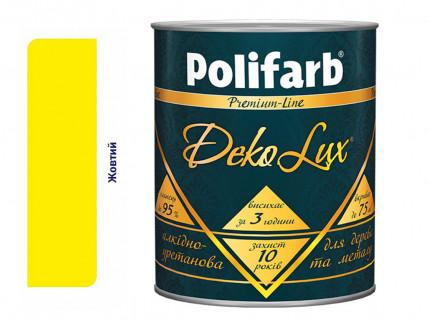 Алкидно-уретановая эмаль DekoLux для дерева и металла Polifarb глянцевая желтая - интернет-магазин tricolor.com.ua