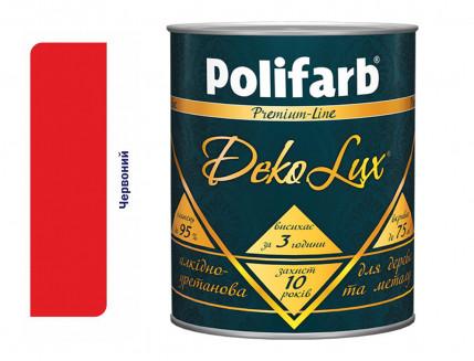 Алкидно-уретановая эмаль DekoLux для дерева и металла Polifarb глянцевая красная - интернет-магазин tricolor.com.ua