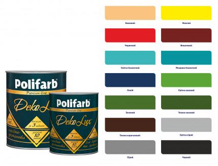 Алкидно-уретановая эмаль DekoLux для дерева и металла Polifarb глянцевая красная - изображение 2 - интернет-магазин tricolor.com.ua