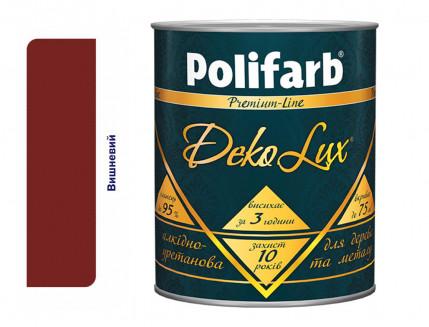 Алкидно-уретановая эмаль DekoLux для дерева и металла Polifarb глянцевая вишневая - интернет-магазин tricolor.com.ua