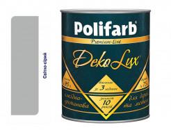 Алкидно-уретановая эмаль DekoLux для дерева и металла Polifarb глянцевая светло-серая - интернет-магазин tricolor.com.ua