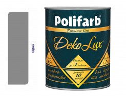Алкидно-уретановая эмаль DekoLux для дерева и металла Polifarb глянцевая серая - интернет-магазин tricolor.com.ua