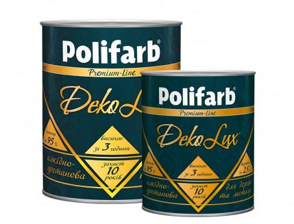 Алкидно-уретановая эмаль DekoLux для дерева и металла Polifarb глянцевая черная - изображение 3 - интернет-магазин tricolor.com.ua