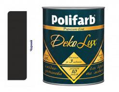 Алкидно-уретановая эмаль DekoLux для дерева и металла Polifarb глянцевая черная - интернет-магазин tricolor.com.ua