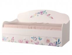 Кроватка диванчик Цветы 80х160 ДСП