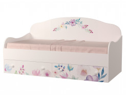 Кроватка диванчик Цветы 90х190 ДСП