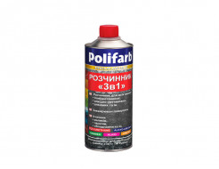 Растворитель для эмалей, грунт-эмалей и лаков Polifarb 3в1