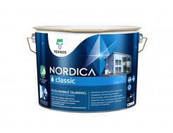 Краска для домов на водной основе Teknos Nordica Classic полуматовая База 1
