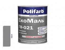 Антикоррозионная алкидная грунтовка для металла ЭкоМаль ГФ-021 Polifarb матовая серая