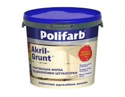 Грунтовочная краска для штукатурки Polifarb Akril-Grunt матовая белая