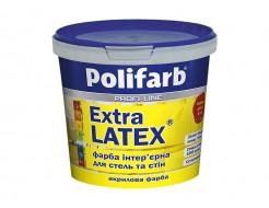 Латексная краска для стен и потолков Polifarb Экстралатекс матовая белая