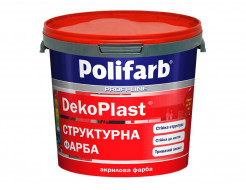Структурная краска для фасадов и интерьеров Polifarb DekoPlast белая - интернет-магазин tricolor.com.ua