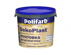 Акриловая грунтовка для фасадов и интерьеров Polifarb DekoPlast белая