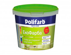 Высококачественная краска для стен и потолков Polifarb Экофарба матовая белая